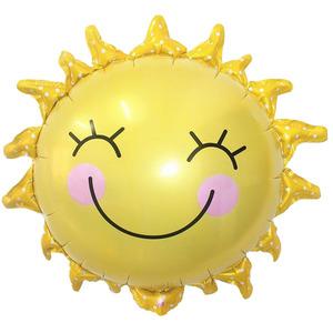 Фигурный шар 'Улыбающееся солнышко'