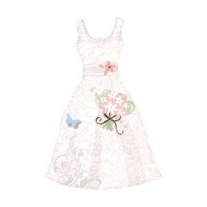 Фигурный шар 'Свадебное платье розовое'