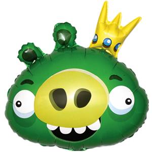 Фигурный шар 'Angry Birds (Король свиней)'