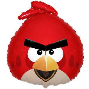 Фигурный шар 'Angry Birds (Красная птица)'