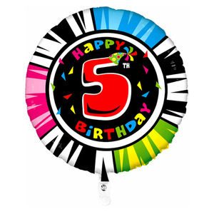 Шар 'Happy Birthday - 5'