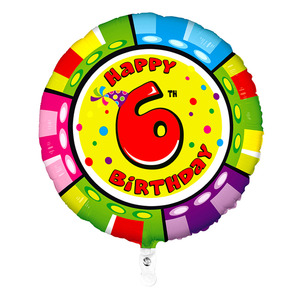 Шар 'Happy Birthday - 6'