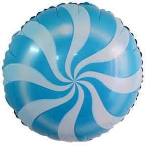 Шарик-круг 'Леденец' голубой