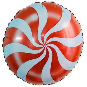 Шарик-круг 'Леденец' красный