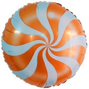 Шарик-круг 'Леденец' оранжевый