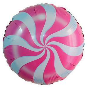 Шарик-круг 'Леденец' розовый