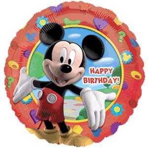 Шарик-круг 'С днём рождения (Микки-Маус)'