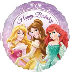Шарик-круг 'С днём рождения (принцессы)'