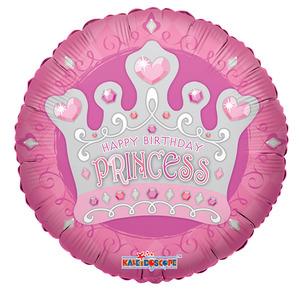 Шарик-круг 'С днём рождения, принцесса'