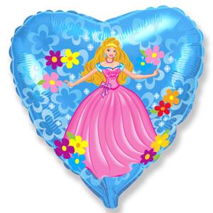 Шарик-сердце 'Принцесса'