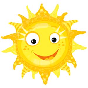 Фигурный шар 'Весёлое солнышко'