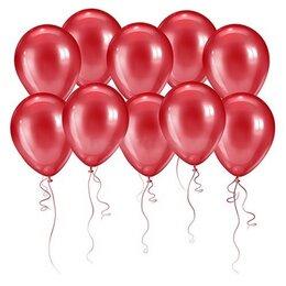 Красивые красные шары (металлик) на День Рождения