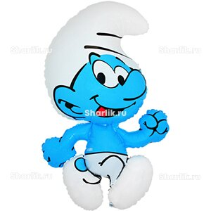 Фигурный шар со Смурфом