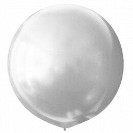 Белый большой воздушный шар (металлик)