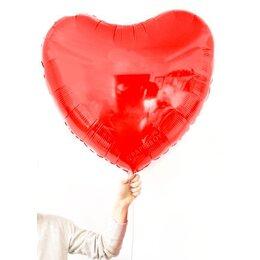 Фольгированный шар Большое красное сердце