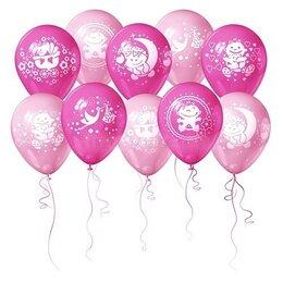 Фольгированные надувные шары на выписку для девочки