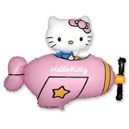 Фигурный шар Hello Kitty в розовом самолете