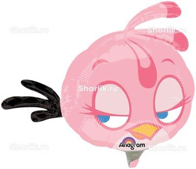 Фигурный шар Розовая птица Angry Birds