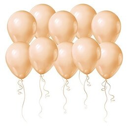 Одноцветные персиковые воздушные шары на День Рождения