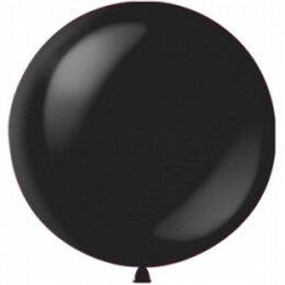 Большой черный надувной шар