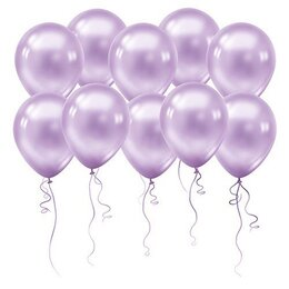 Воздушные шары на девичник фиолетового цвета (металлик)