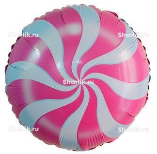 Шарик-круг Леденец розовый