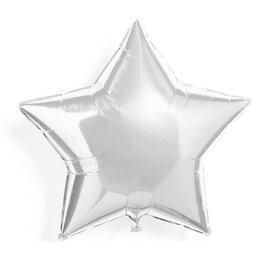 Гелиевый шар на девичник - шарик-звезда (Серебро)