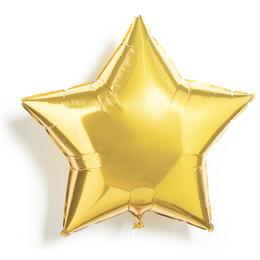 Надувной шар с гелием на девичник - звезда (Золото)