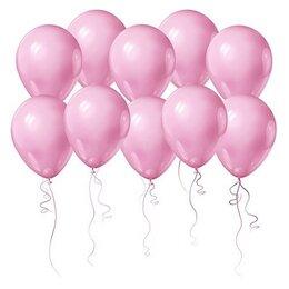 Розовые воздушные шары с Днем Рождения