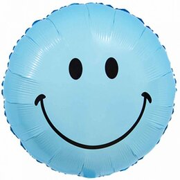 Воздушные надувные шары-круги на выписку (мальчик-смайл)