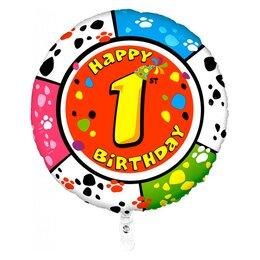 """Шарик-цифра """"Happy Birthday - 1"""""""