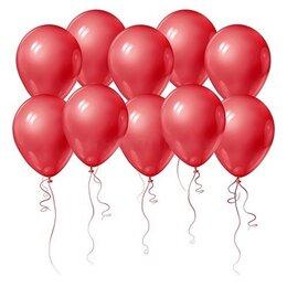 Красные красивые шарики на День Рождения