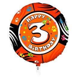 "Воздушный шарик-цифра ""Happy Birthday - 3"""