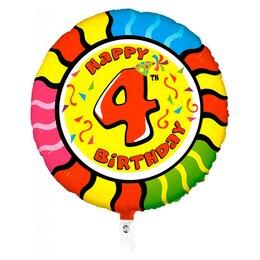 """Надувной шарик в виде цифры  """"Happy Birthday - 4"""""""