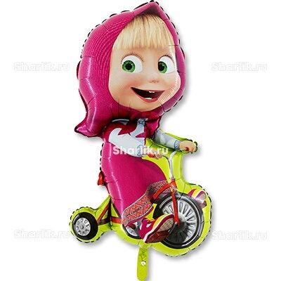 Фигурный шар Маша с велосипедом