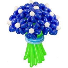 Синие цветы из шаров (1 цветок)