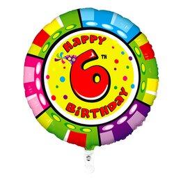 "Воздушный шар-цифра ""Happy Birthday - 6"""
