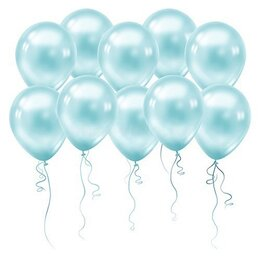 Воздушные голубые шарики (металлик)