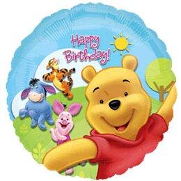 Шарик-круг С днём рождения (Винни-Пух)