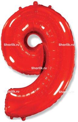 Шар-цифра 9, Красный