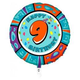 "Воздушный шар с цифрой ""Шар Happy Birthday - 9"""