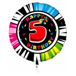 """Гелиевый шар-цифра """"Happy Birthday - 5"""""""
