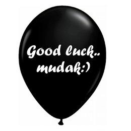 Шар с оскорбительной надписью Good luck mudak