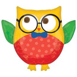 Фигурный шарик Сова в очках
