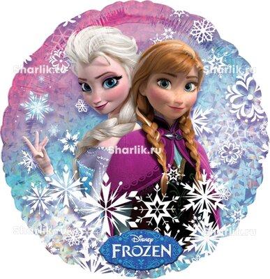 Шарик-круг Холодное сердце Эльза и Анна
