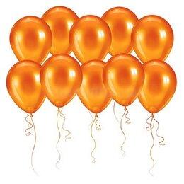 Воздушные оранжевые шары (металлик) на День Рождения