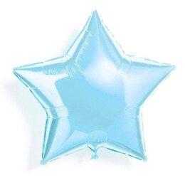 """Воздушный шар на девичник """"Голубая звезда"""""""