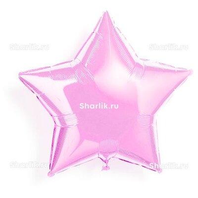 Шарик-звезда светло-розовая