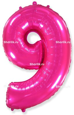 Шар-цифра 9, Розовый