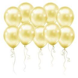 Кремовые воздушные шары (металлик) на День Рождения